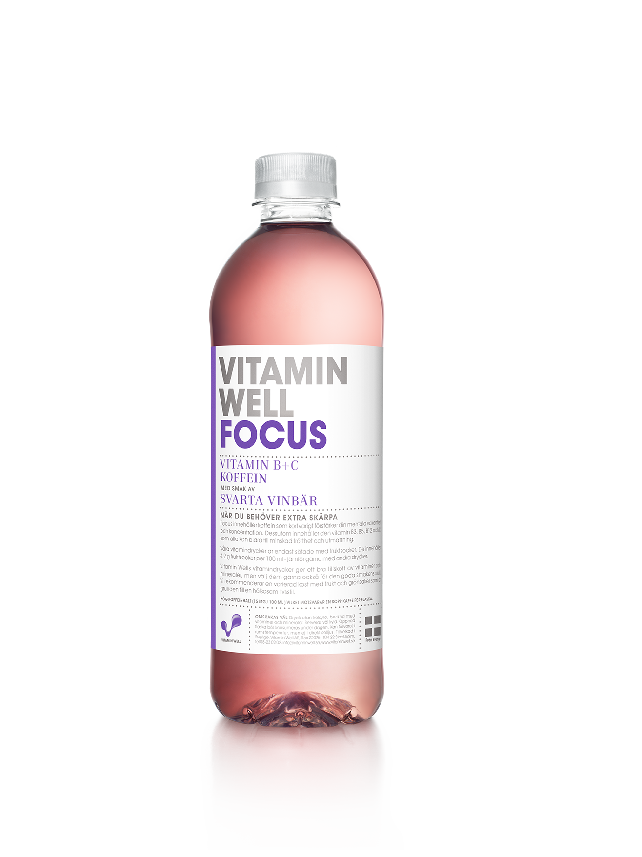 Vitamin Well Focus - 50 cl per flaska