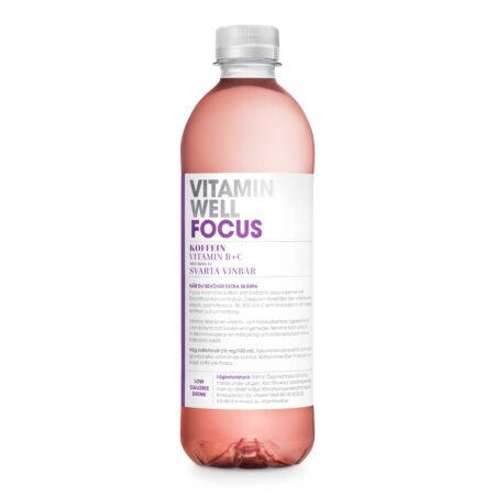 VITAMIN WELL FOCUS SVARTA VINBÄR 12x50CL