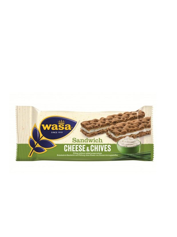 Sandwich Cream Cheese/Gräslök 24x37g Wasabröd