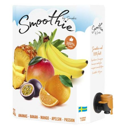 SMAKIS SMOOTHIE GUL 3 LITER BAG IN BOX - 100% frukt