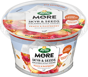 SKYR & SEEDS RASPBERRY/PEACH 6x190 g