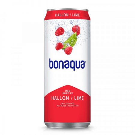 SLEEK CAN BONAQUA HALLON/LIME 20X33CL